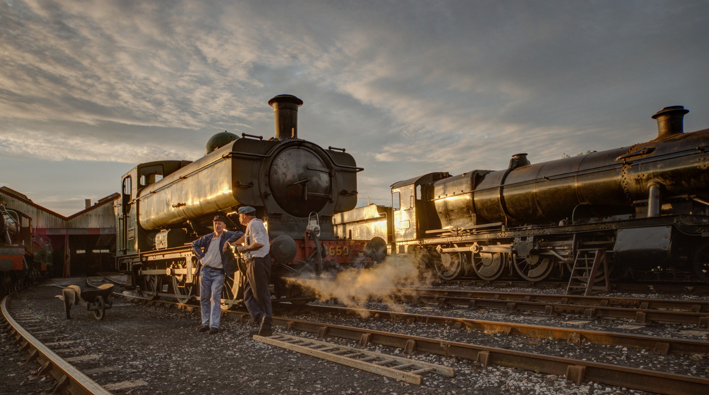19 SUNSET ON STEAM by Richard Brown