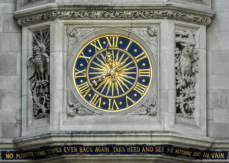 19 CLOCK AT LIBERTY STORE LONDON by Philip Smithies
