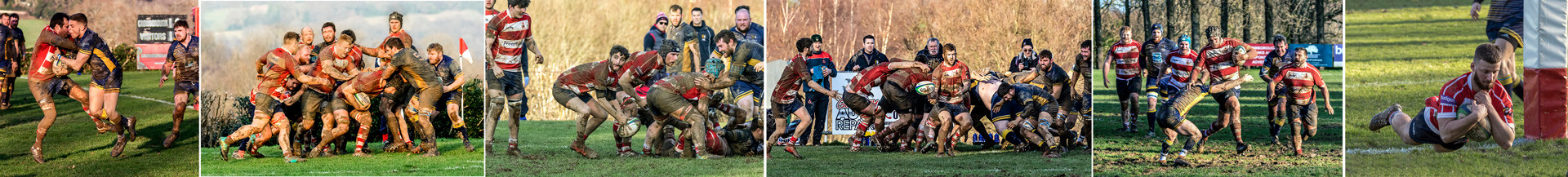 18 HOME RUGBY MATCH AT THE CROSS by Denys Clarke