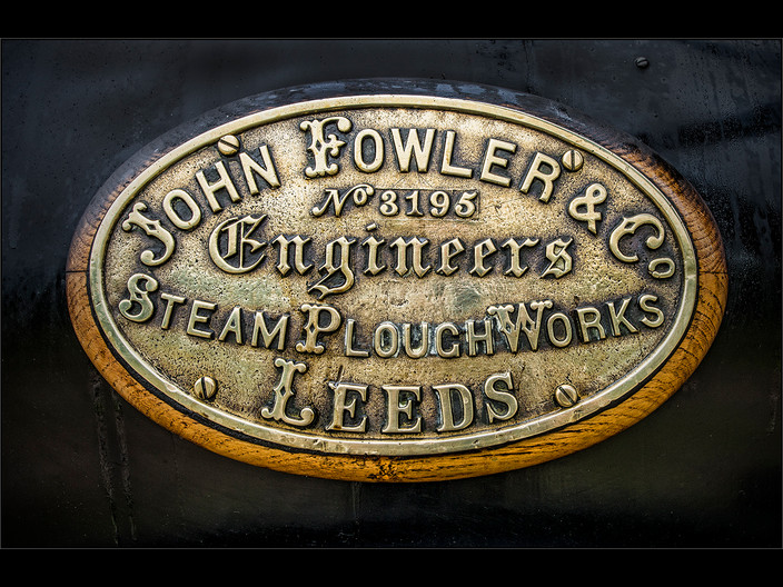 20 JOHN FOWLER  BRASS NAME PLATE by Mick Dudley
