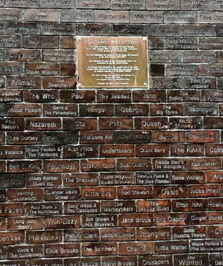13 A DETAIL OF THE CAVERN WALL OF FAME LIVERPOOL 1997 by Norman Cochrane