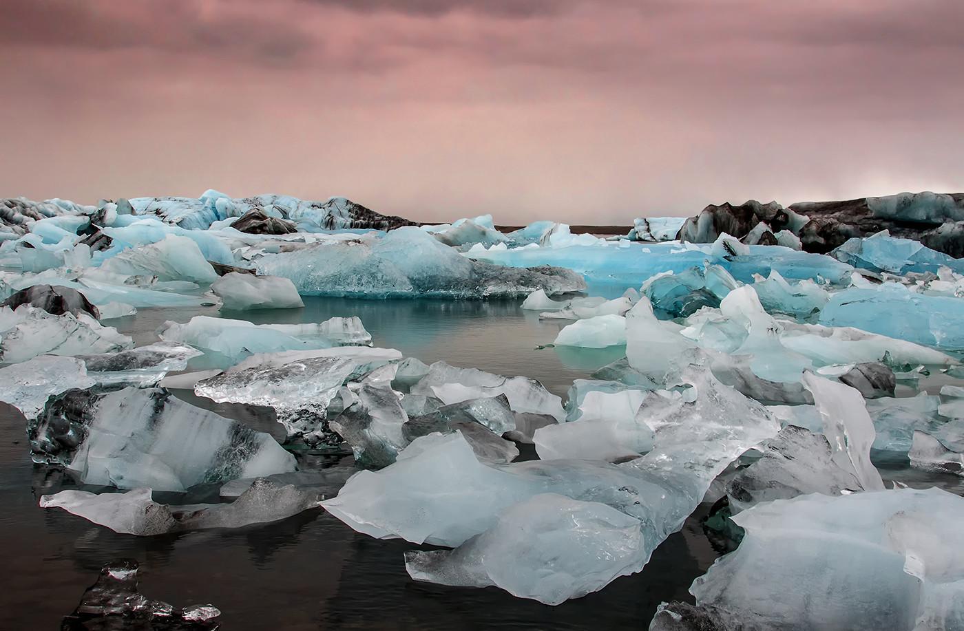18 ICEBERGS ON JOKULSARLON LAGOON by Glenn Welch