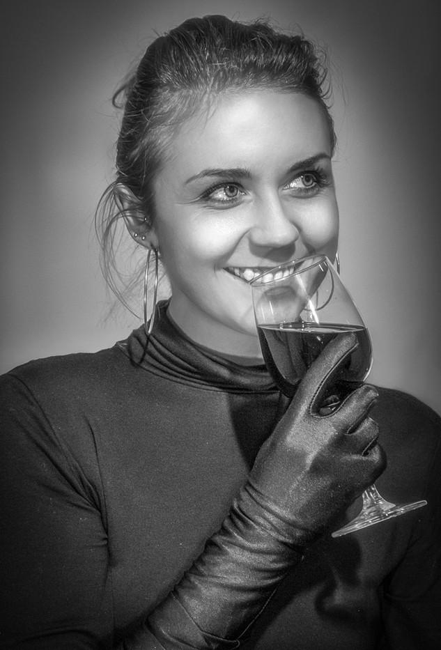 18 ANNA DRINKING WINE by Tony Hill