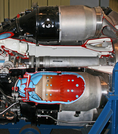 16 DEMONSTRATION TURBOJET ENGINE AT DUXFORD SHOWING COMBUSTION CHAMBERS by Clive Brewer