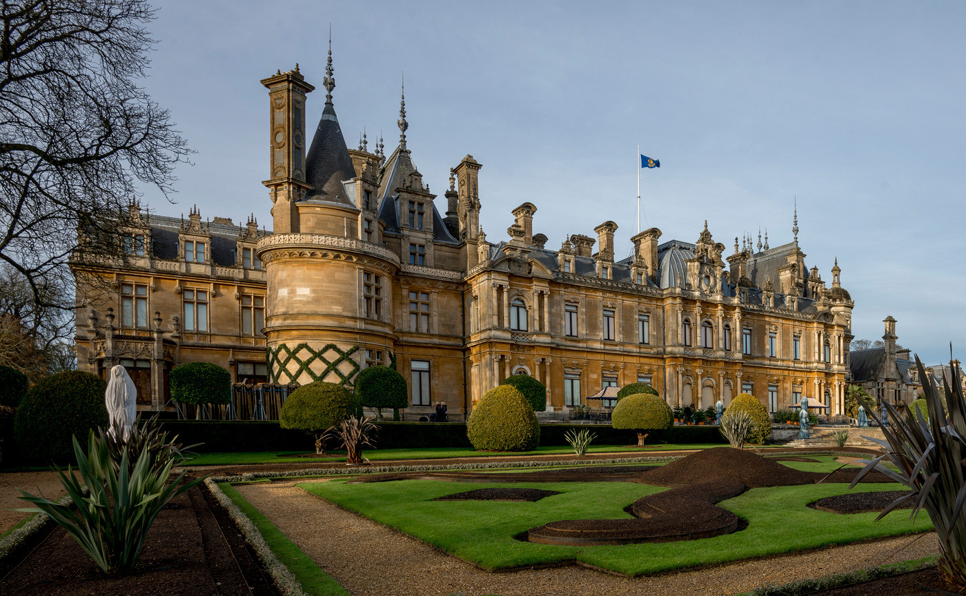 15 WADDESDON MANOR VIEWED FROM PARTERRE, LOIRE CHATEAUX STYLE, c1883 by Alan Cork