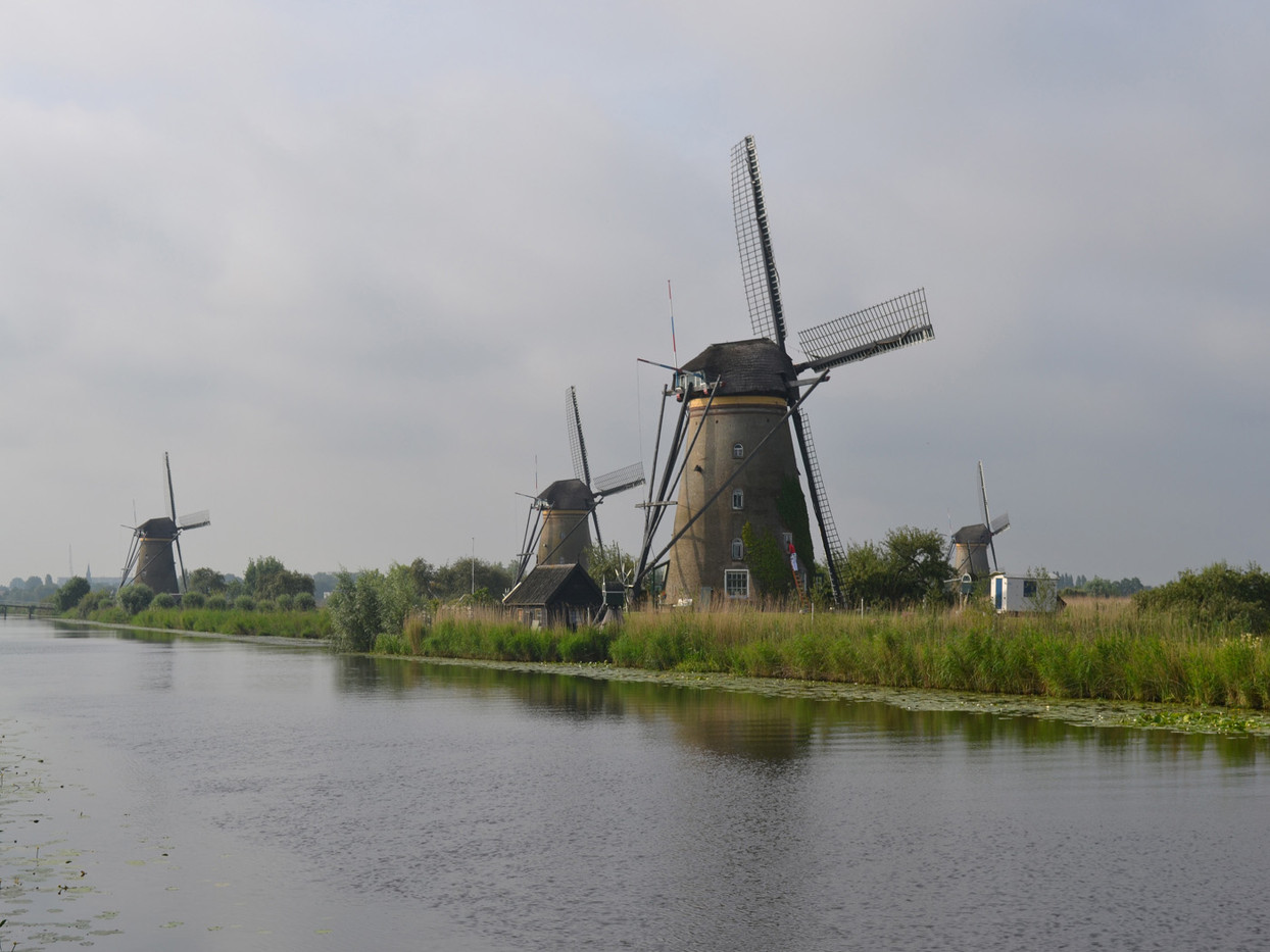 14 WINDMILLS AT KINDERDJIK by Colin Bullen