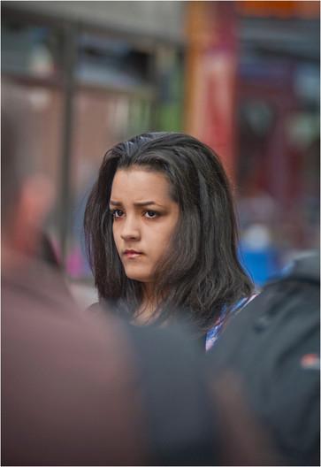 18 FACE IN A BUSY STREET by Annik Pauwels