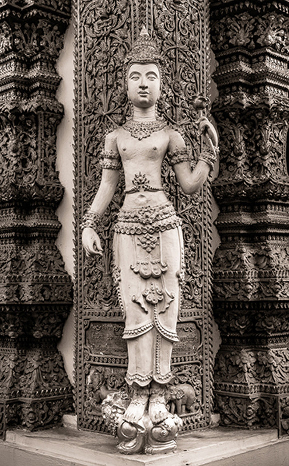 17 DETAIL BUDDHIST TEMPLE EXTERIOR CHIANGMAI by Chelin Miller