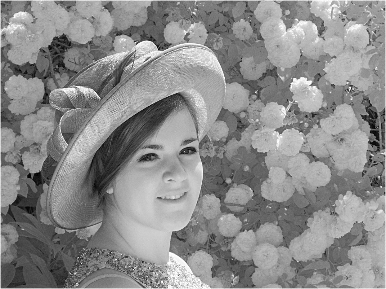 12 NATALIE WITH HAT AND FLOWERS by Cathie Agates