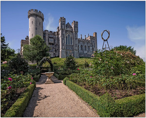 PRINT 4 points A VIEW OF ARUNDEL CASTLE FROM THE ROSE GARDEN by Graham Bunyan