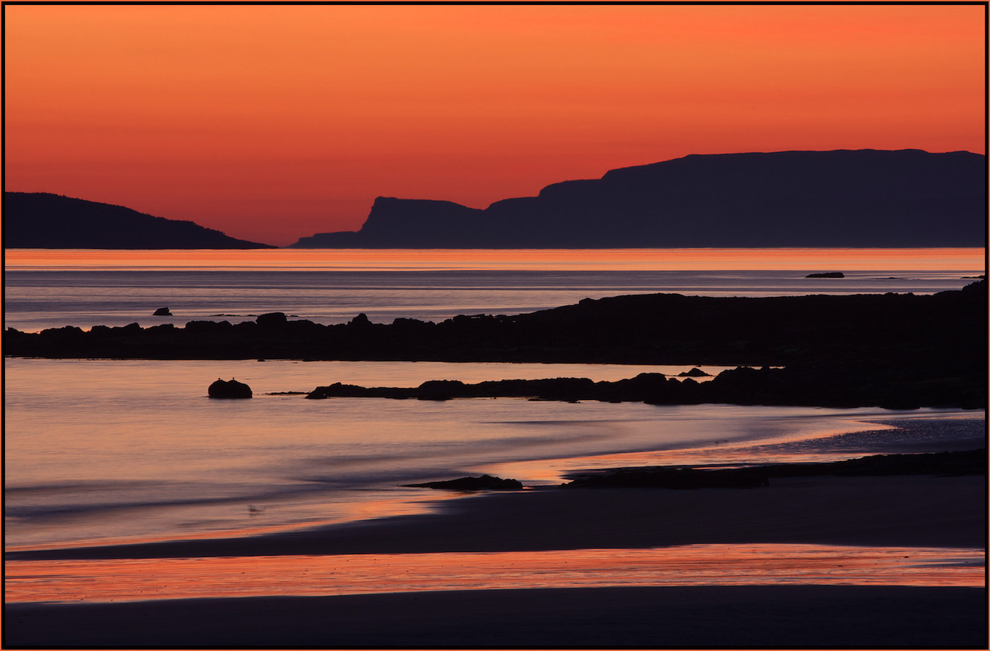 18 EIGG BEACH SUNSET by Carole Lewis