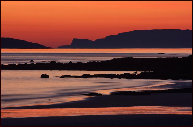 18 EIGG BEACH SUNSET by Carole Lewis