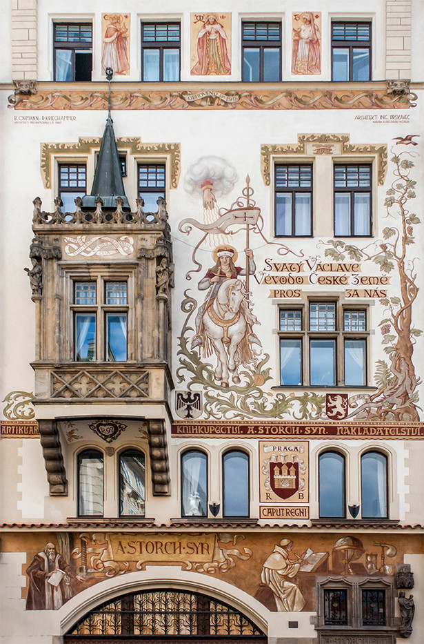 19 FACADE OF STORCH HOUSE, PRAGUE by Philip Smithies
