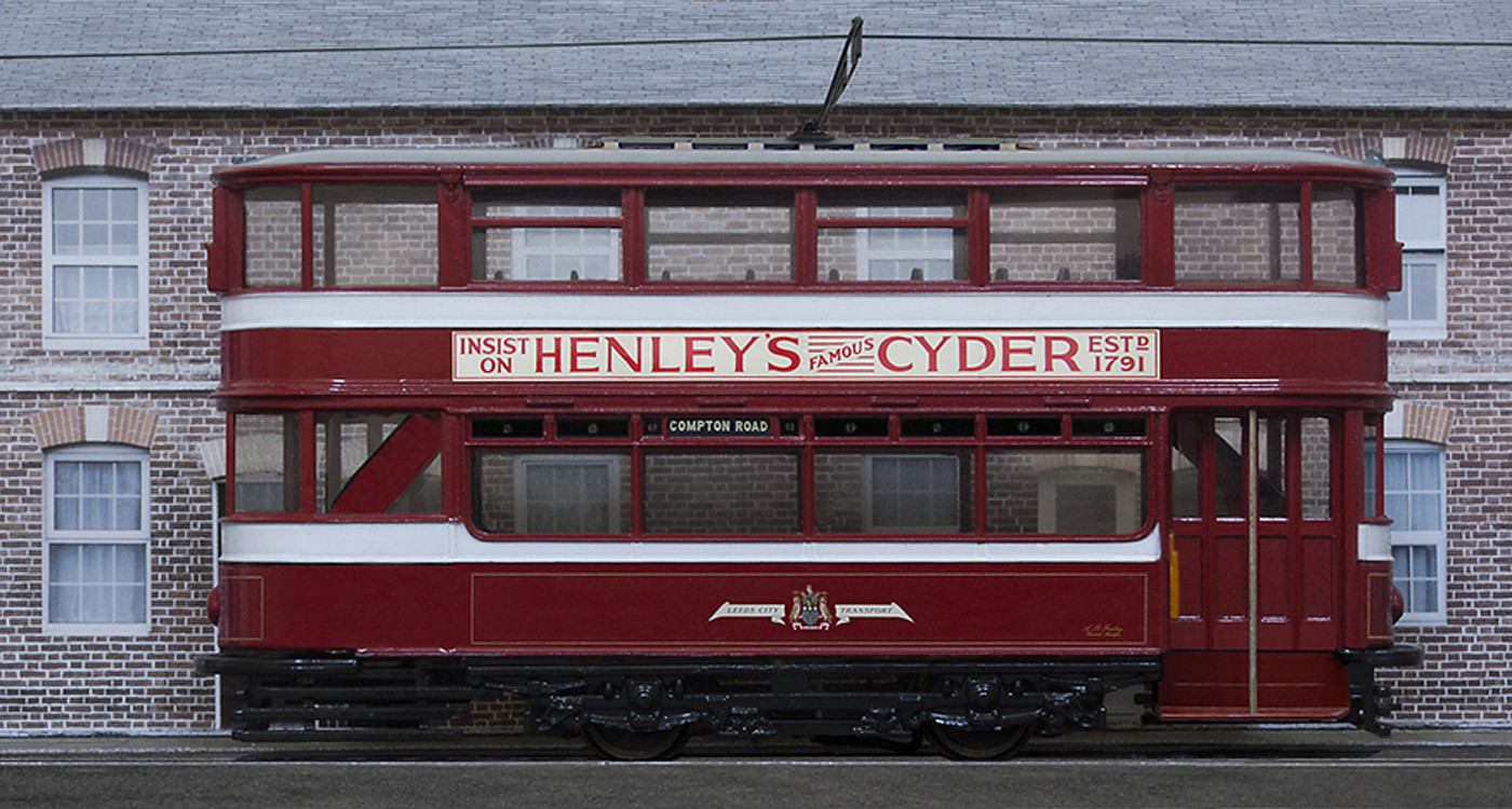 17 OO-SCALE MODEL (FIVE INCHES LONG) OF LEEDS HORSFIELD TRAM OF 1931 by Philip Smithies