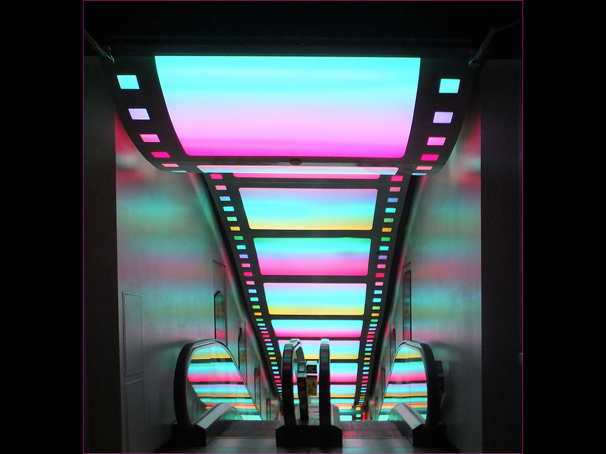 19 COLOURFUL ESCALATOR by Cathie Agates