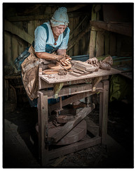 20 TUDOR POTTER AT WORK by Mick Dudley