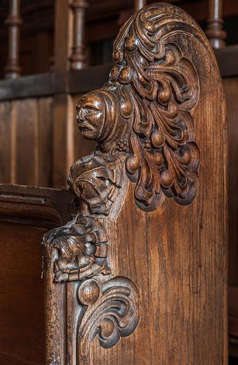 18 CHOIR STALL CARVING ST JOHN THE  BAPTIST CHURCH WITTERSHAM KENT by Chris Rigby
