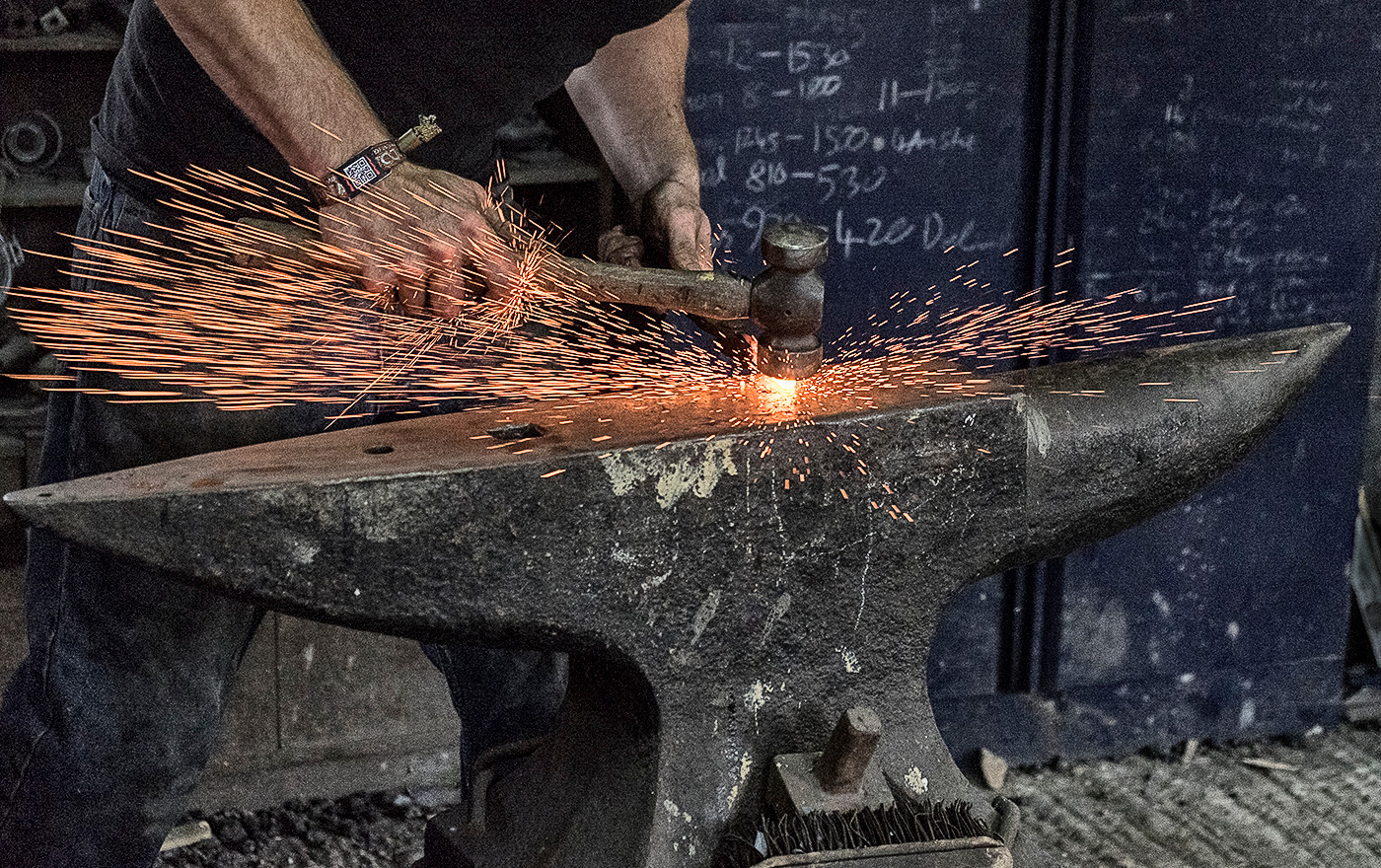 BLACKSMITH AT WORK by Colin Smith