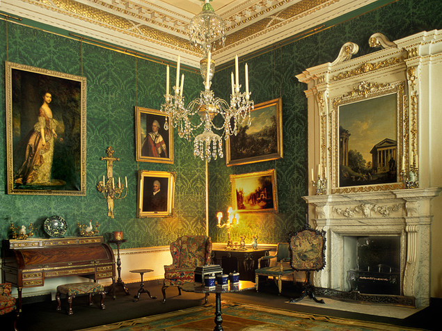 WITHDRAWING ROOM, CLANDON HOUSE by Keith Evans
