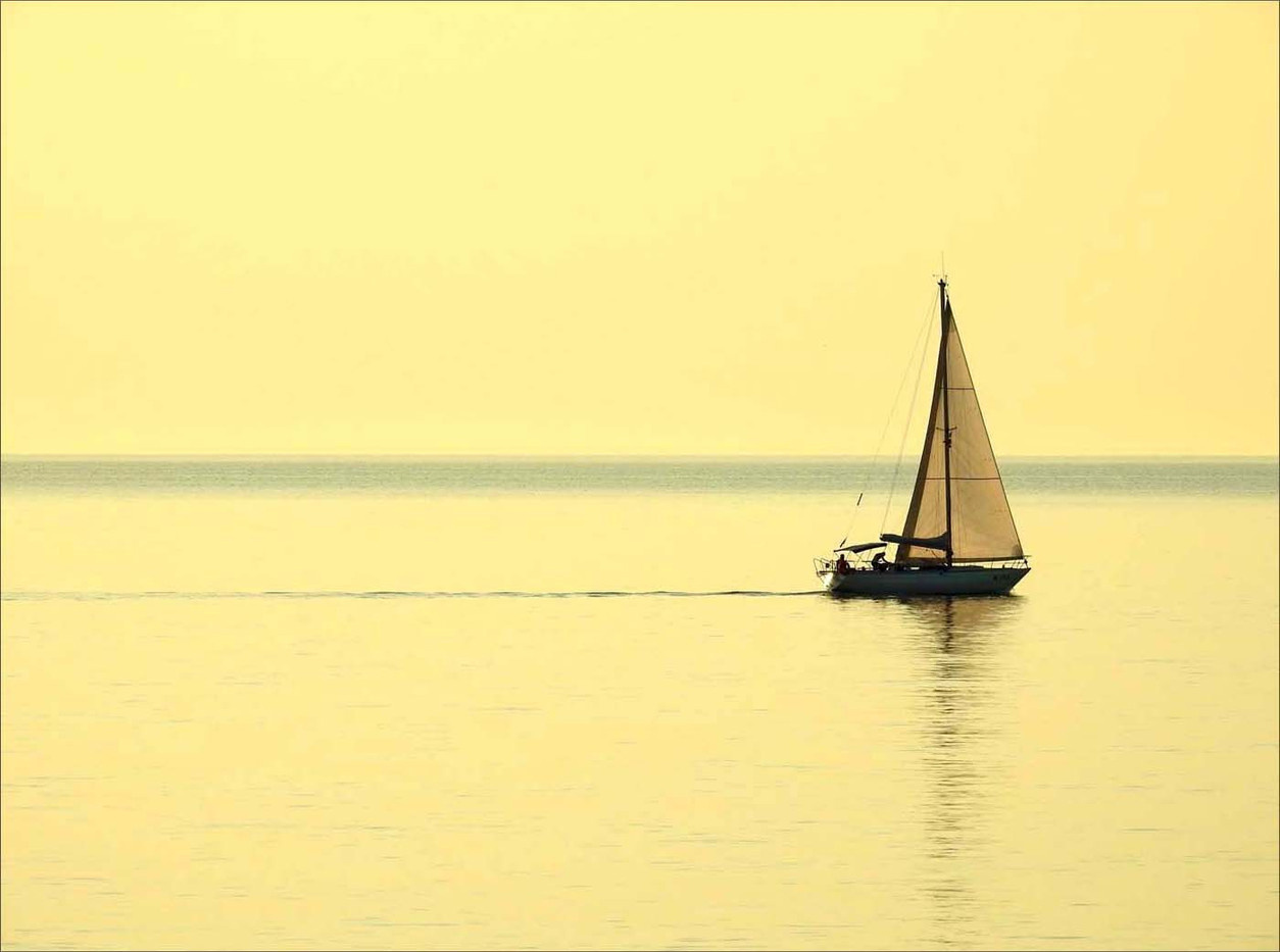 20 SAILING IN A PUGLIA SUNRISE by Dorril Polley