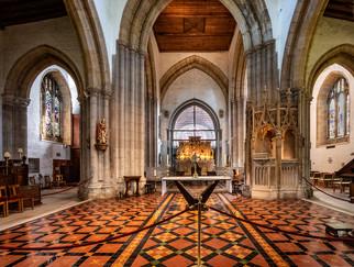 PRINT 11 points FITZALAN CHAPEL, St NICHOLAS CHURCH, ARUNDEL CHURCH by Denys Clarke