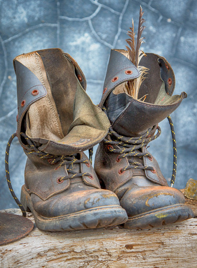 GROUP 1 18 OLD BOOTS by Roger Wates
