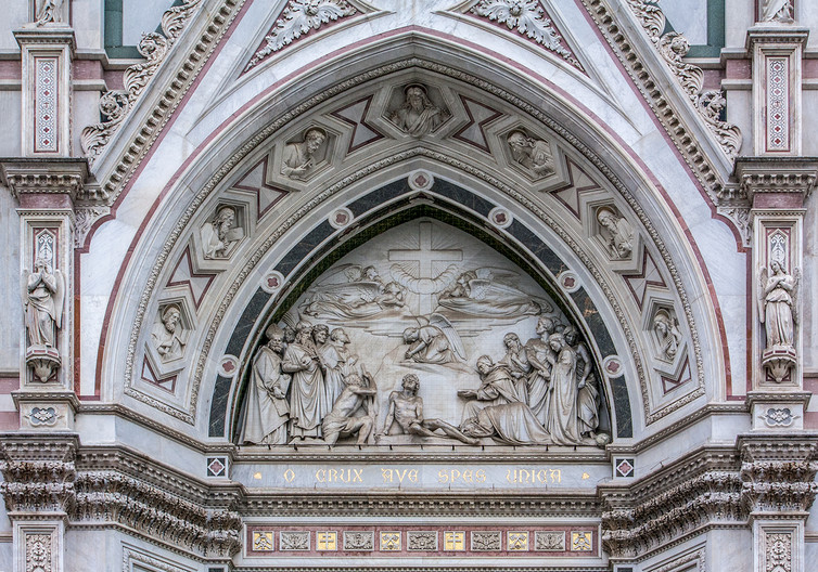 16 FACADE OF ST CROCE CHURCH FLORENCE by Philip Smithies