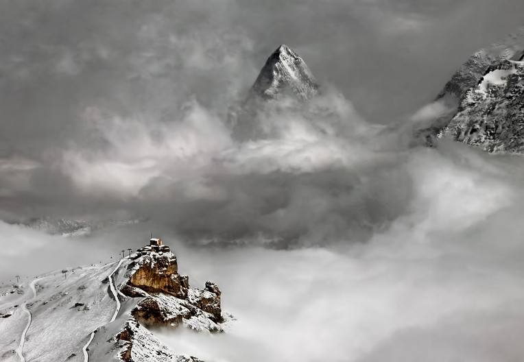 20 VIEW FROM THE SCHILTHORN by Pam Sherren