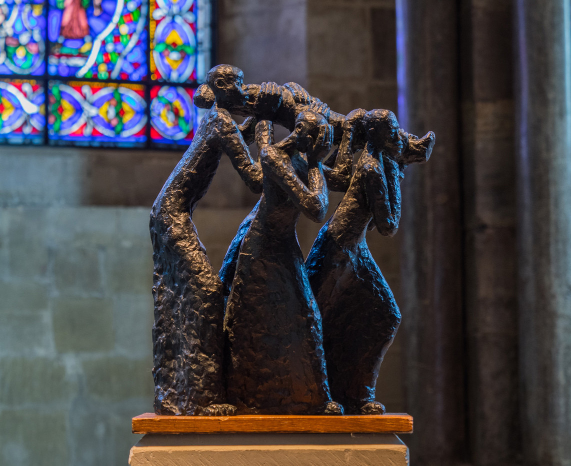 19 THE BURIAL OF CHRIST SCULPTURE, CANTERBURY CATHEDRAL by Terry Day
