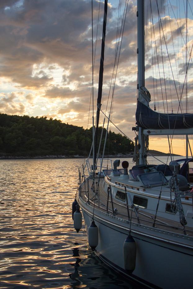 16 SUNSET, CROATIA by Liz Turton