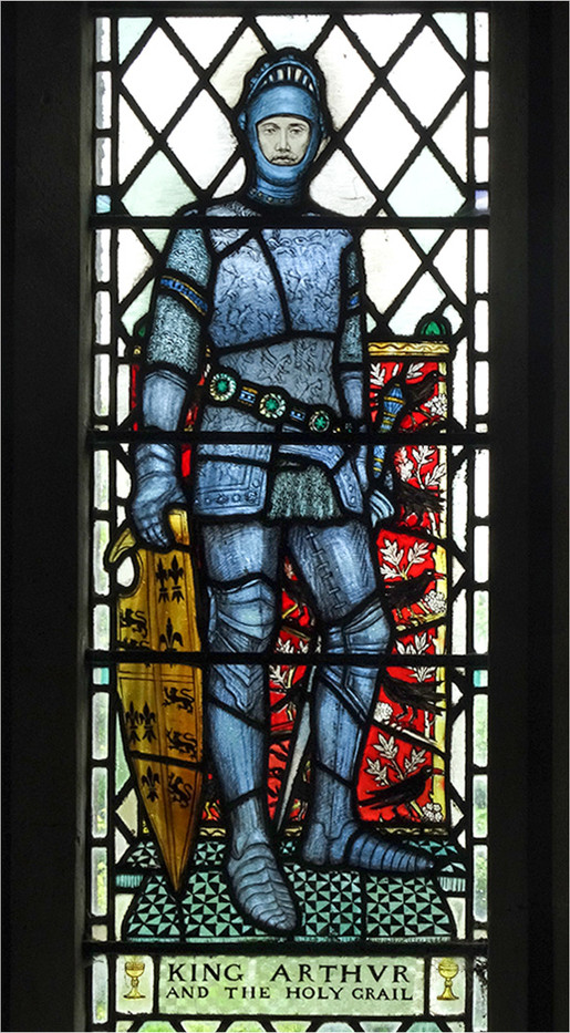 17 STAINED GLASS, ST NECTAN'S CHURCH, STOKE HARTLAND by Brian Whiston