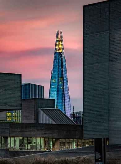 17 THE SHARD FROM SOUTH BANK by Sonia Peek