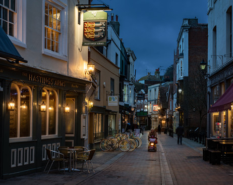 HASTINGS AT DUSK by Jeremy Stock