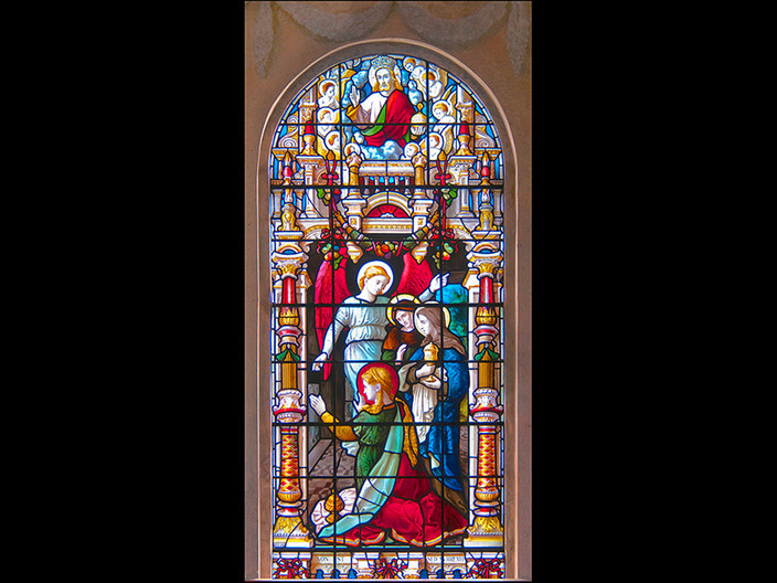 16 EAST WINDOW - THE RESURRECTION - ST LAWRENCE CHURCH MERWORTH by Swales Parry