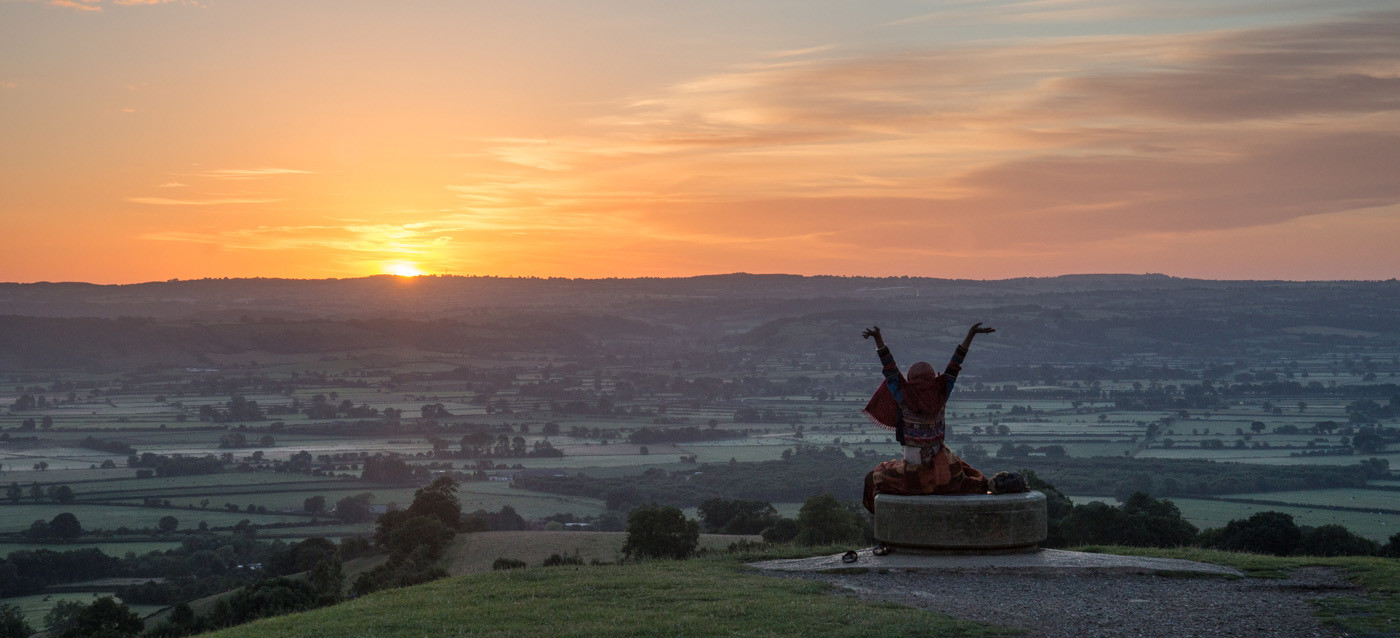 16 SUNRISE AT GLASTONBURY TOR by Richard Brown