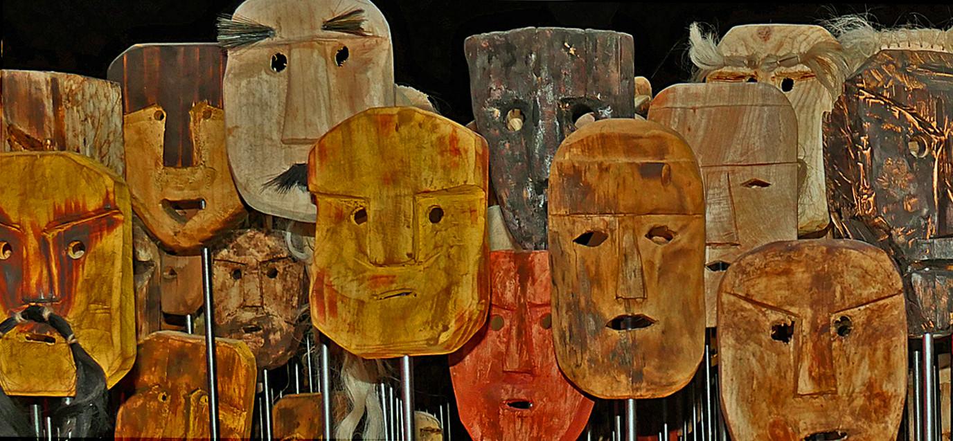 15 MASKS AT VENICE ART BIENNALE by Joan Gow