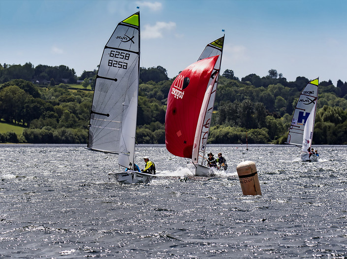 16 RACING FOR THE MARK by Denys Clarke