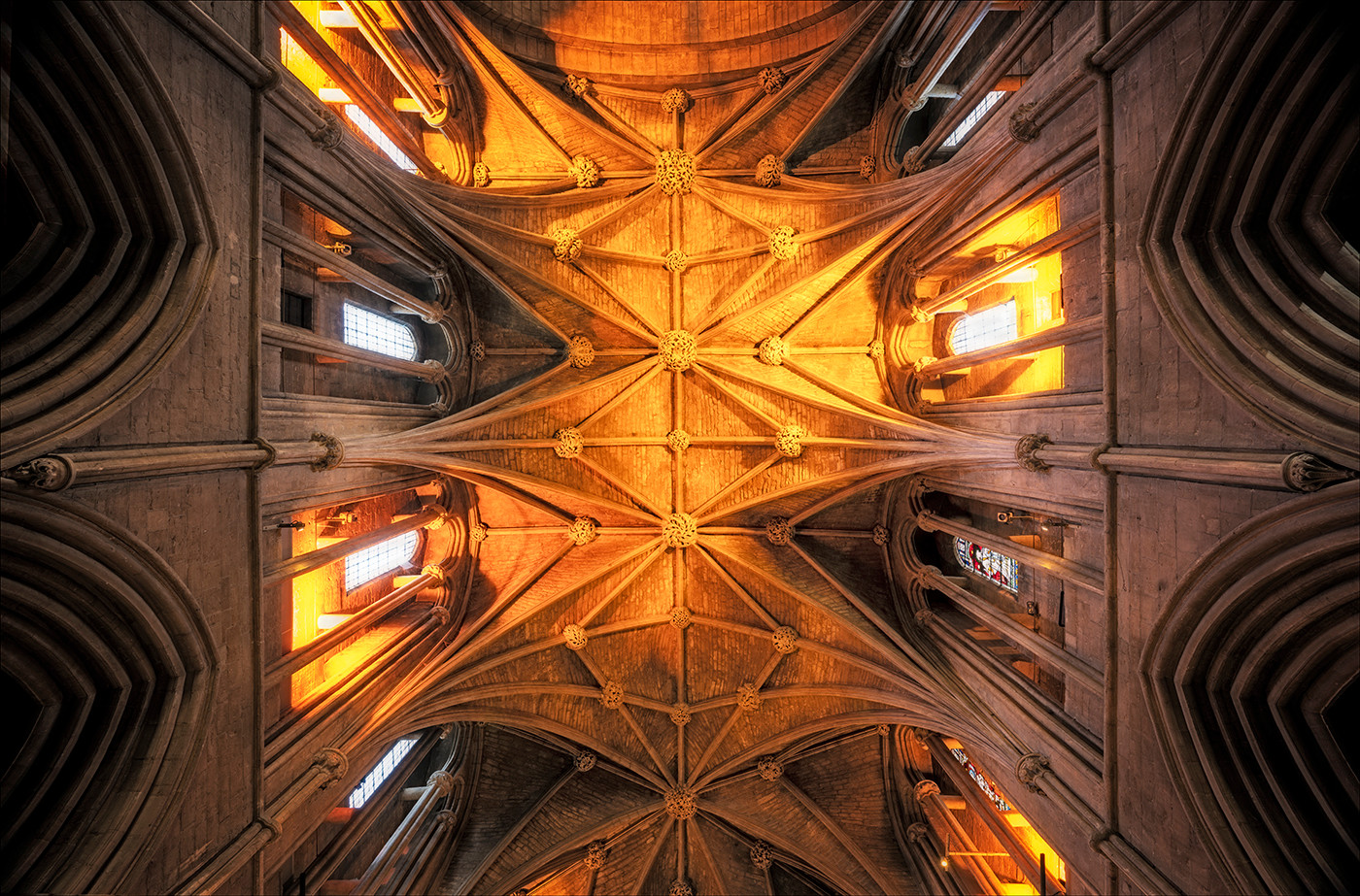 14 PRINT VAULTED ROOF PERSHORE ABBEY by Steve Oakes