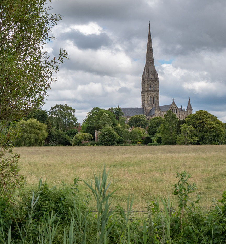 16 SALISBURY CATHEDRAL FROM THE WEST by Roger Wates