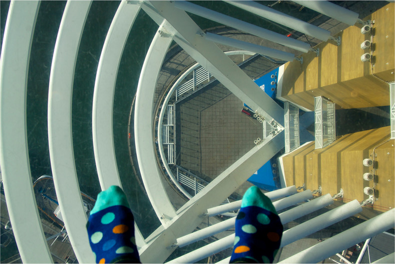 15 GLASS FLOOR OF THE SPINNAKER  PORTSMOUTH by Dave Brooker