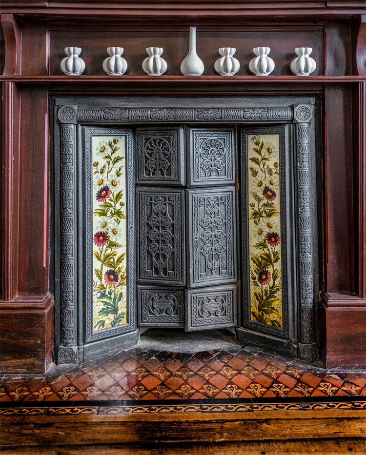 17 EDWARDIAN CAST IRON FIREPLACE, JACKFIELD CERAMIC MUSEUM, IRONBRIDGE by Alan Cork