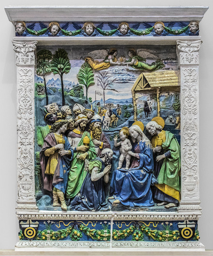 14 ALTARPIECE SHOWING THE ADORATION OF THE MAGI by Philip Smithies
