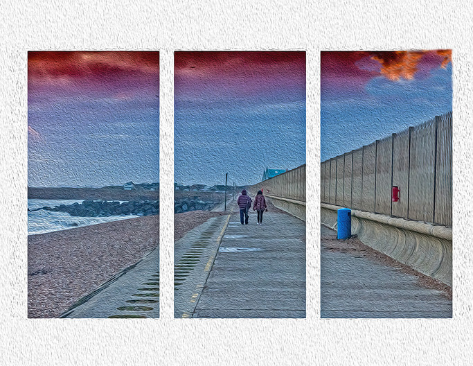 17 TRYPTICH ON SHOREHAM BEACH by Steve Oakes