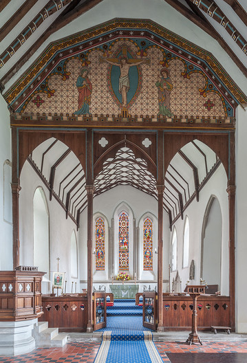 16 NINETEENTH CENTURY ROOD SCREEN ST  LAURENCE THE MARTYR CHURCH GODMERSHAM KENT by Chris Rigby