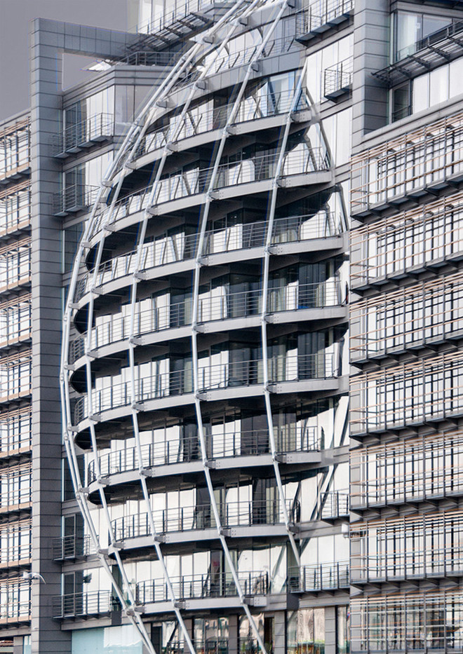 16 THE BALCONIES, MODERN ARCHITECTURE SEEN ON THE SOUTH BANK LONDON by Ann Paine