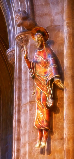 20 ELY CATHEDRAL FIGURE by Carole Lewis
