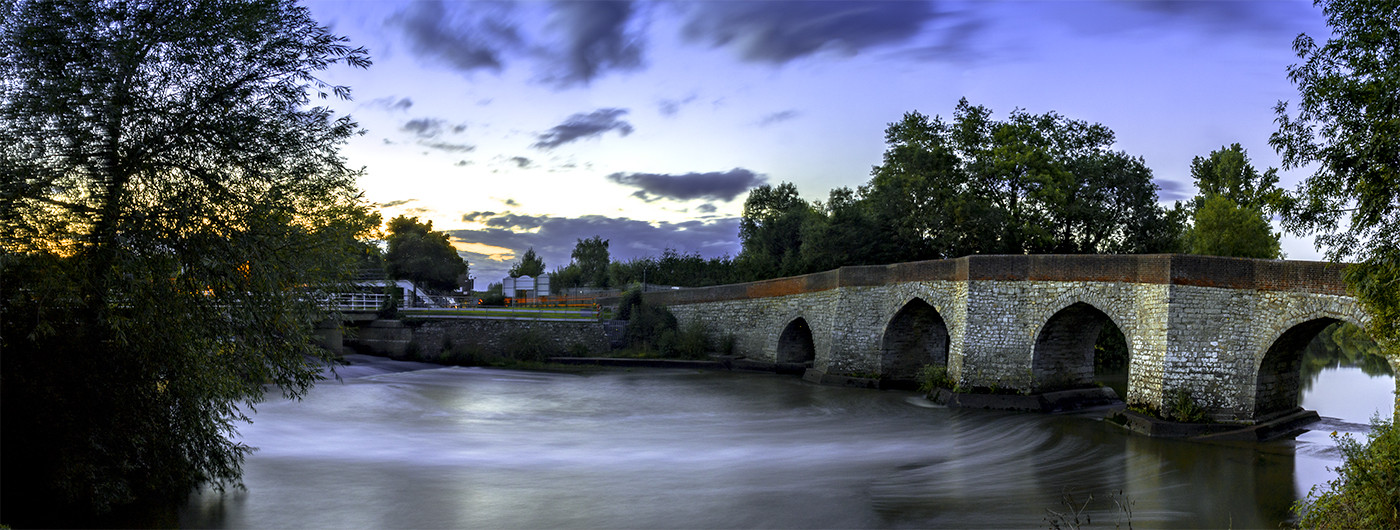 17 TWYFORD BRIDGE AT SUNSET by Philip Easom