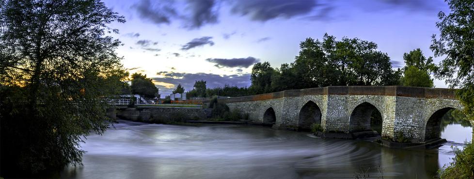 17 TWYFORD BRIDGE AT SUNSET by Philip Easom