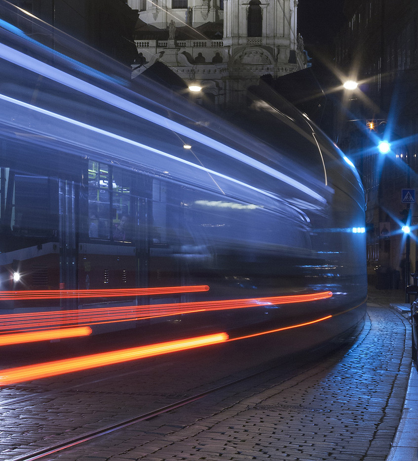 17 TRAM TRAILS by Philip Smithies