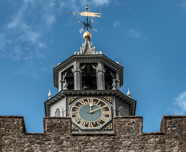 18 CLOCK TOWER AT KNOLE by Ann Paine